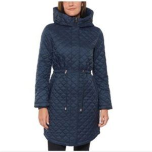 Kate Spade New York Hooded Quilted Anorak Coat